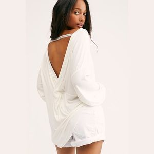 Free People Shimmy Shake Top in Ivory
